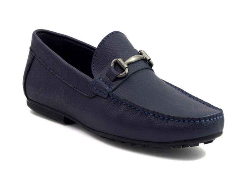 Load image into Gallery viewer, Tomaz C247 Buckle Loafers (Navy) - Tomaz Shoes (388300767261)