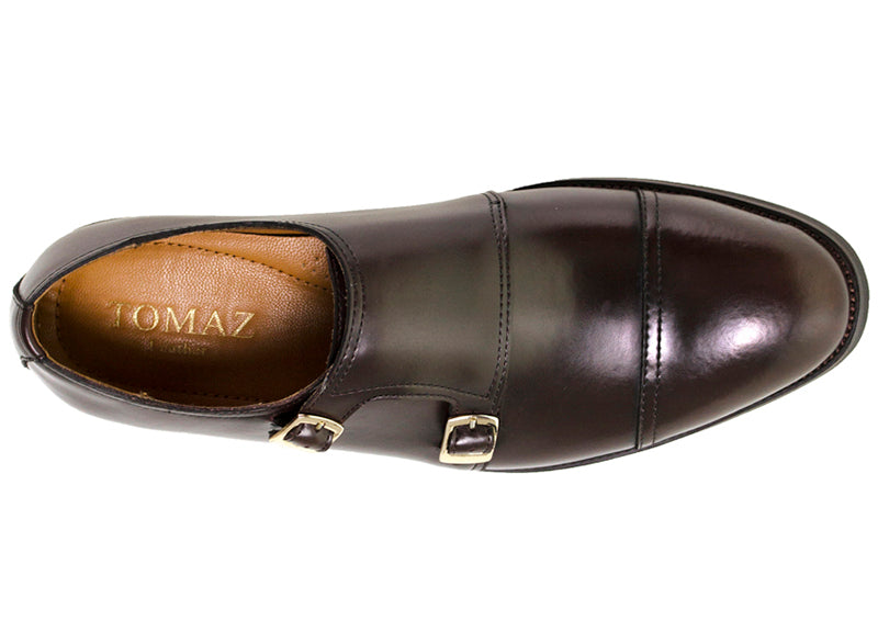 Load image into Gallery viewer, Tomaz F076B Cap-toe Monkstrap (Coffee) - Tomaz Shoes (9516469704)