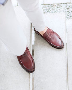 Load image into Gallery viewer, Tomaz F092 Penny Loafers (Wine) (8406363912)