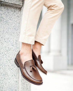 Load image into Gallery viewer, Tomaz F098 Tassel Loafers (Brown) (8529753032)