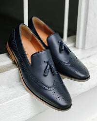 Tomaz F116 Tassel Loafers (Navy) (1583024635993)