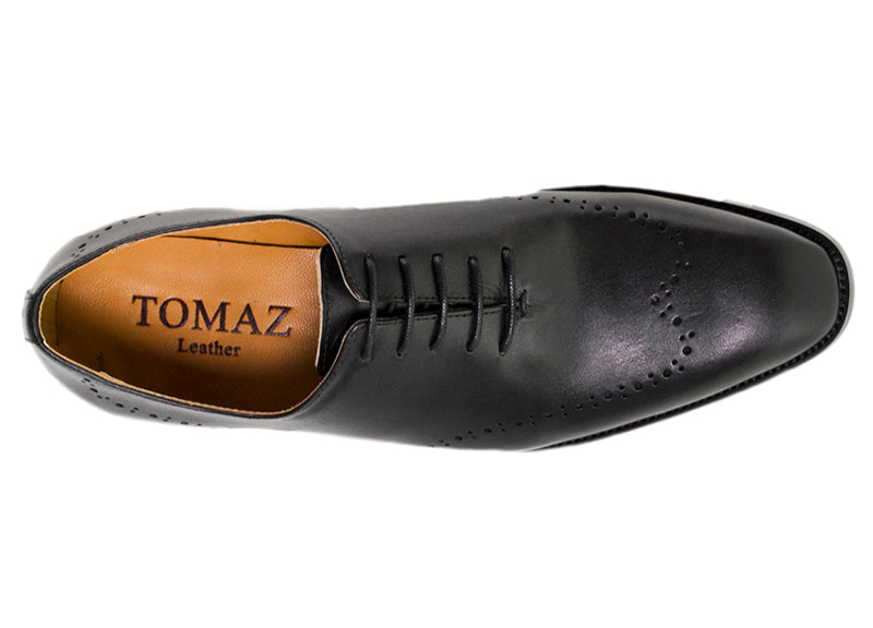 Load image into Gallery viewer, Tomaz F121 Formal Perforated Lace-Up (Black) - Tomaz Shoes (9516579016)