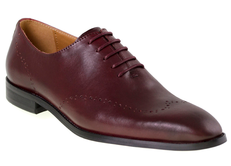Load image into Gallery viewer, Tomaz F121 Formal Perforated Lace-Up (Wine) - Tomaz Shoes (9516581832)