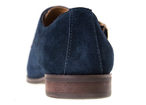 Load image into Gallery viewer, Tomaz F122 Plain Suede Monkstrap (Navy) - Tomaz Shoes (9925861000)