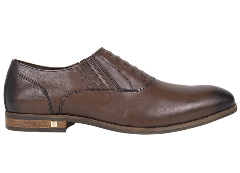 Tomaz F154 Formal Lace Up (Brown) - Tomaz Shoes (413864820765)
