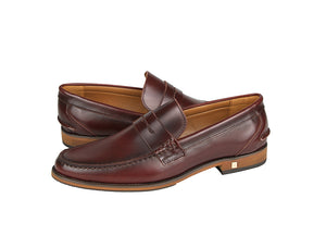 Load image into Gallery viewer, Tomaz F159 Penny Loafers (Wine) (1899552047200)