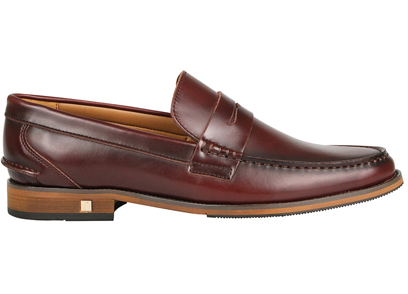 Tomaz F159 Penny Loafers (Wine) (1899552047200)