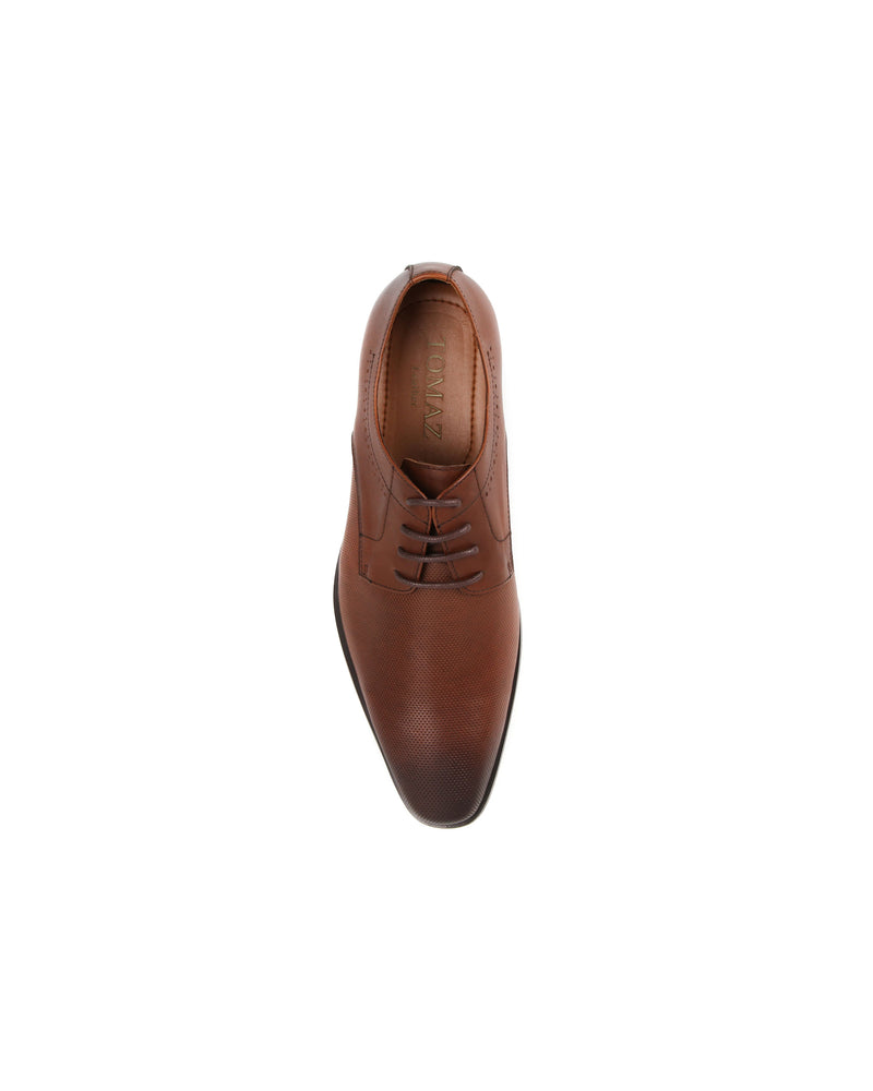 Load image into Gallery viewer, Tomaz F182 Perforated Lace Up Formal (Brown)  men shoe, men's shoe, men's italian dress shoes, men's dress shoes guide, men's dress shoes near me, dress shoes men, famous footwear near me, famous footwear locations, shoe store near me, best formal shoes, formal shoes