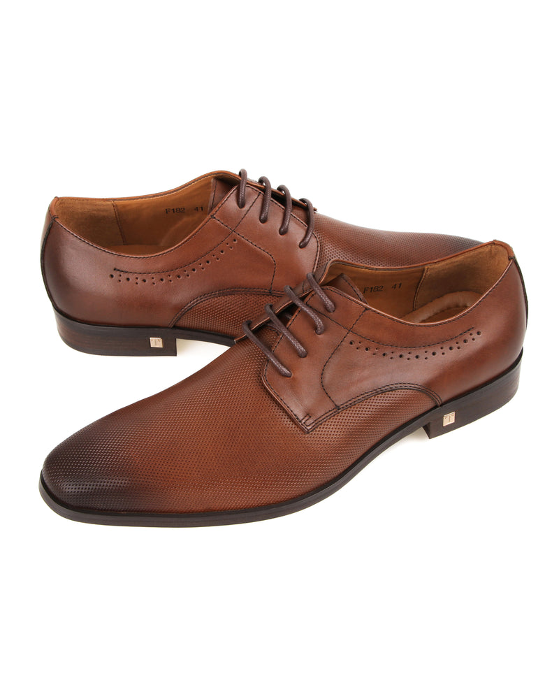 Tomaz F182 Perforated Lace Up Formal (Brown)  men shoe, men's shoe, men's italian dress shoes, men's dress shoes guide, men's dress shoes near me, dress shoes men, famous footwear near me, famous footwear locations, shoe store near me, best formal shoes, formal shoes