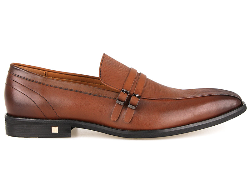 Tomaz F197 Formal Buckle Slip On (Brown) (1938727043168)