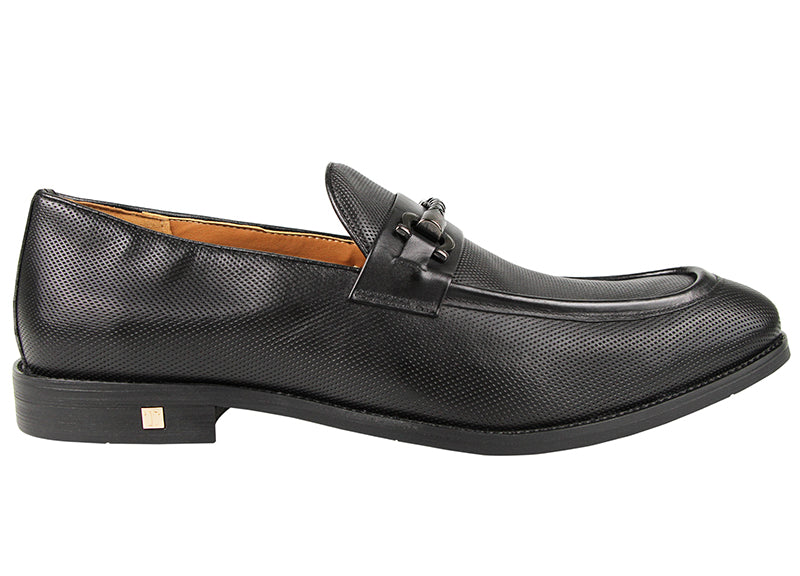 Load image into Gallery viewer, Tomaz F206 Buckle Loafers (Black) (1896329838688)
