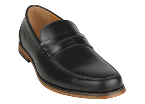 Load image into Gallery viewer, Tomaz F213 Penny Loafers (Black) (1900927484000)