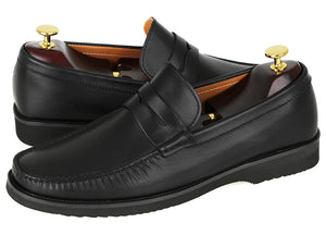 Load image into Gallery viewer, Tomaz F222 Penny Loafers (Black) (2020034707552)