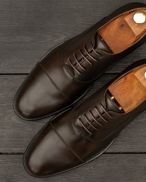 Load image into Gallery viewer, Tomaz F232 Cap Toe Oxfords (Coffee) (1932952043616)