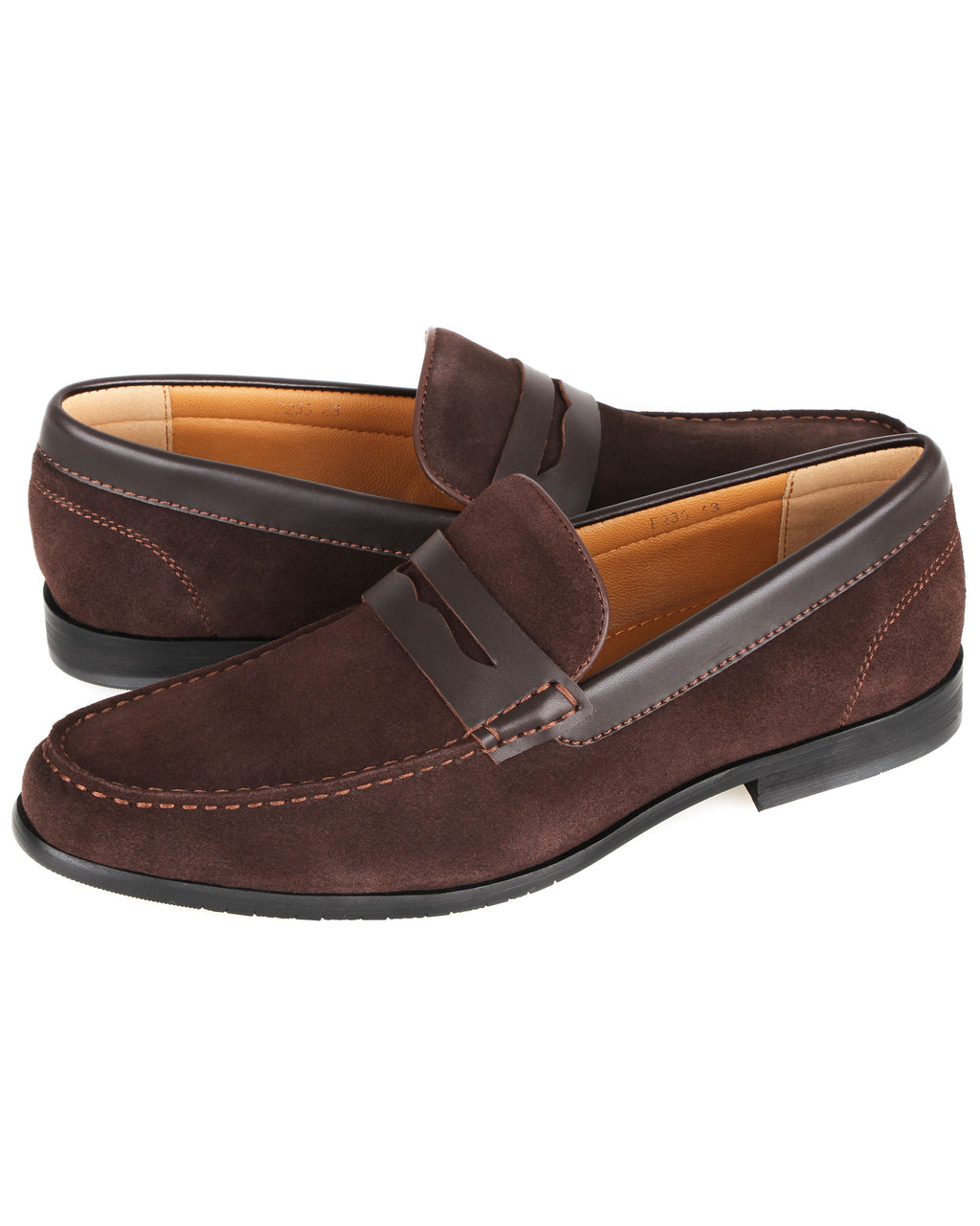 Tomaz F235 Suede Penny Loafers (Coffee)