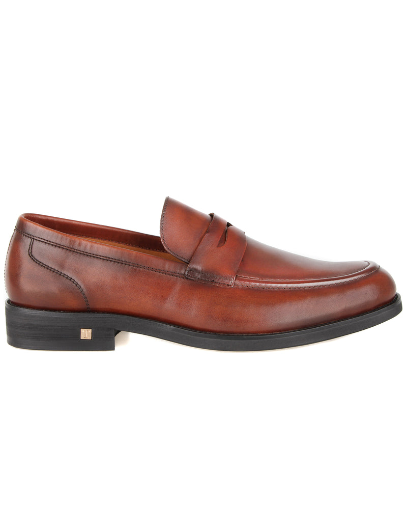 Tomaz F236 Penny Formal Slip On (Brown)