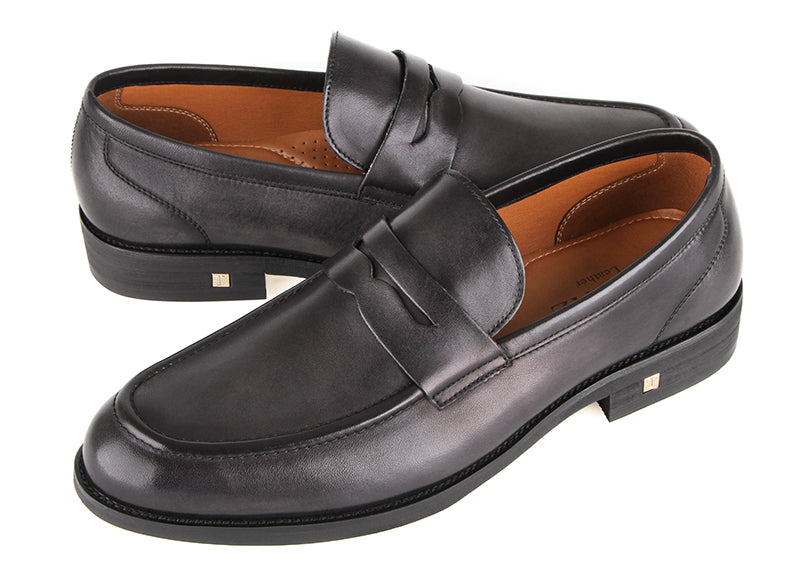 Tomaz F236 Penny Loafers (Black) (2206894358624)