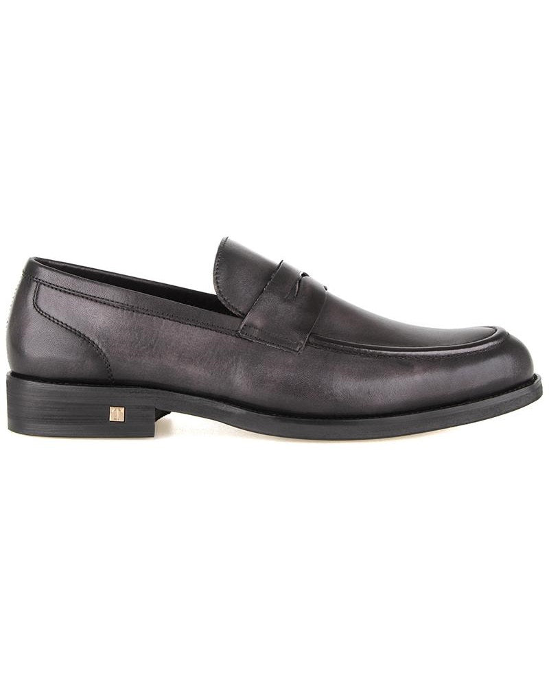 Tomaz F236 Penny Formal Slip On (Black) (2206894358624)