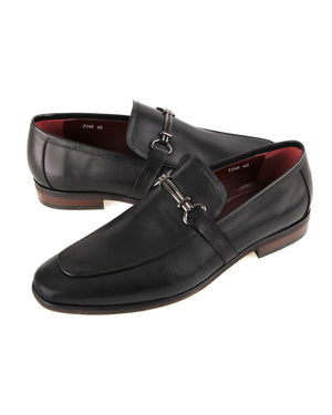 Load image into Gallery viewer, Tomaz F245 Horsebit Buckle Loafers (Black)