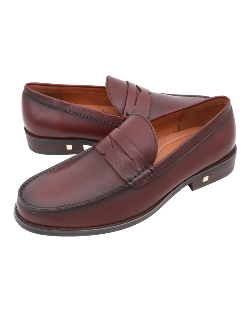 Load image into Gallery viewer, Tomaz F249 Penny Loafers (Wine)