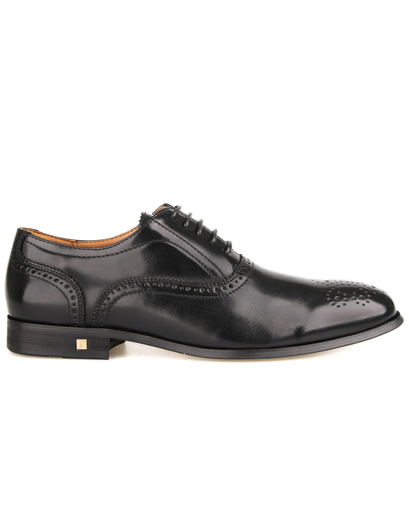 Tomaz F256 Brogue Oxford Lace Up (Black)