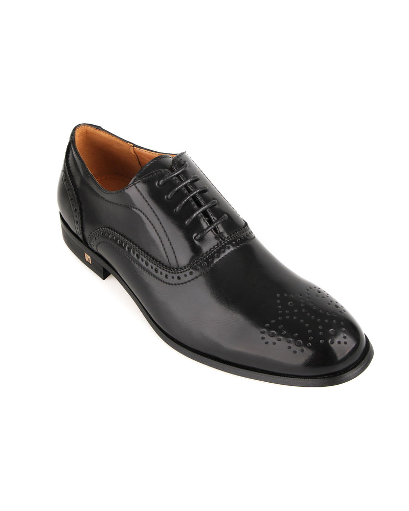 Load image into Gallery viewer, Tomaz F256 Brogue Oxford Lace Up (Black)