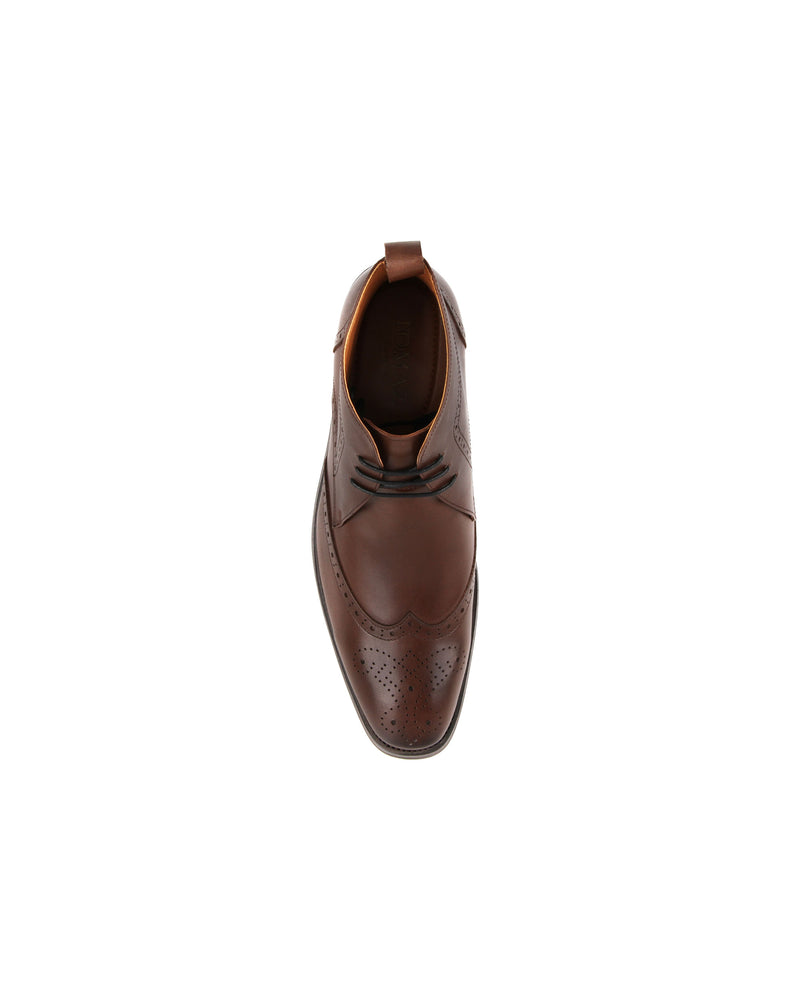 Load image into Gallery viewer, Tomaz F257 Wingtip Brogue Boot (Coffee) men shoe, men's shoe, men's italian dress shoes, men's dress shoes, men's dress shoes near me, shoe shop near me, tomaz shoe locations, shoe store near me, formal shoes
