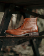 Tomaz F257 Wingtip Brogue Boot (Brown) men shoe, men's shoe, men's italian dress shoes, men's dress shoes, men's dress shoes near me, shoe shop near me, tomaz shoe locations, shoe store near me, formal shoes