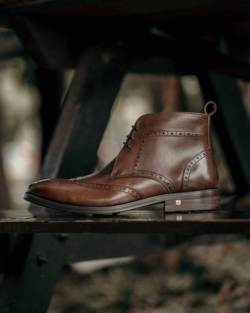 Tomaz F257 Wingtip Brogue Boot (Coffee) men shoe, men's shoe, men's italian dress shoes, men's dress shoes, men's dress shoes near me, shoe shop near me, tomaz shoe locations, shoe store near me, formal shoes