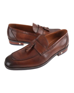 Load image into Gallery viewer, Tomaz F258 Double Tassel Loafers (Brown)