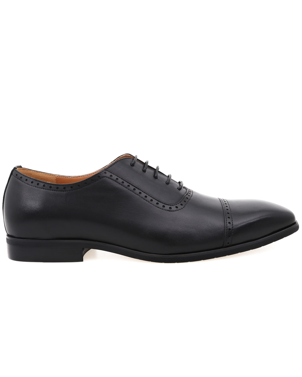 Tomaz F261 Cap Toe Brogue Oxford (Black)