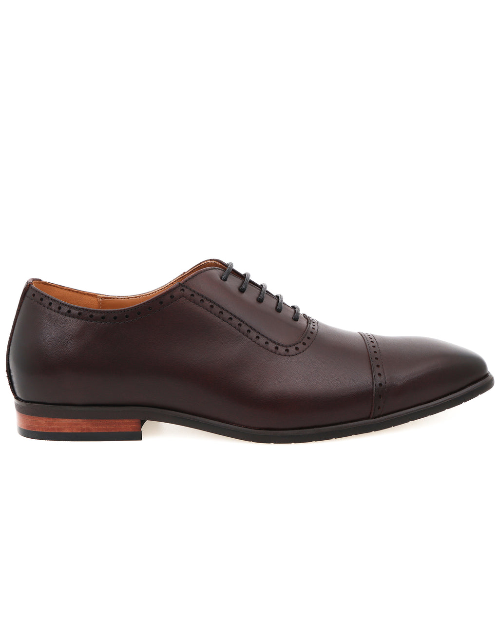 Tomaz F261 Cap Toe Brogue Oxford (Coffee)