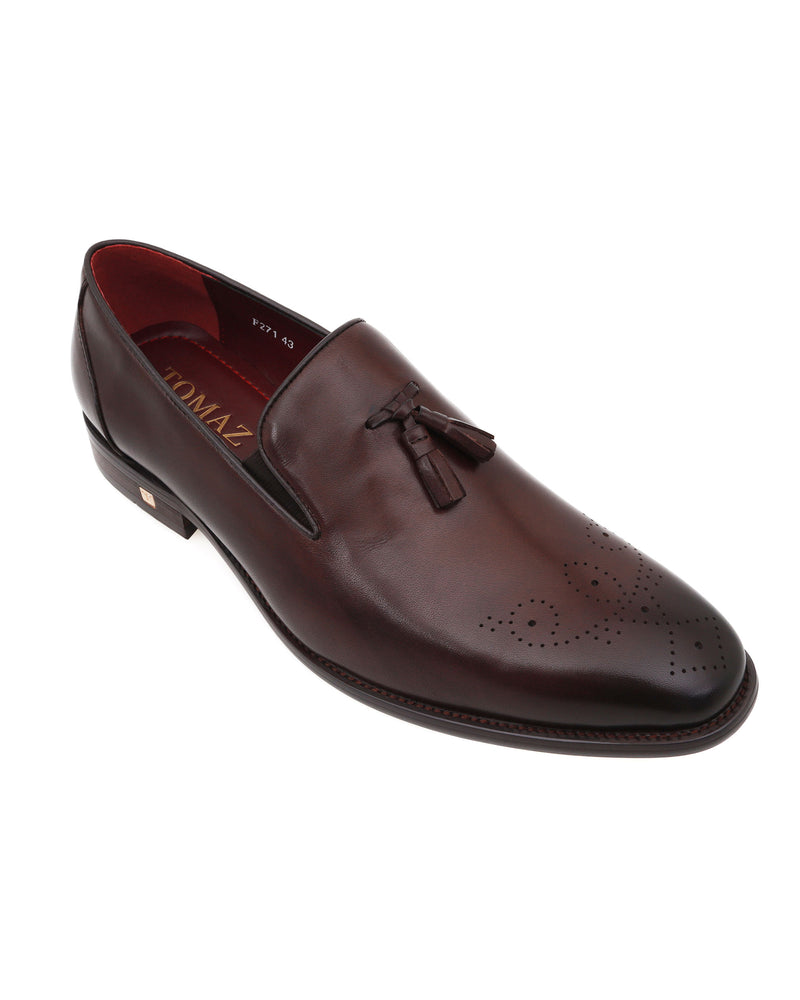 Load image into Gallery viewer, Tomaz F271 Tassel Loafers (Coffee)