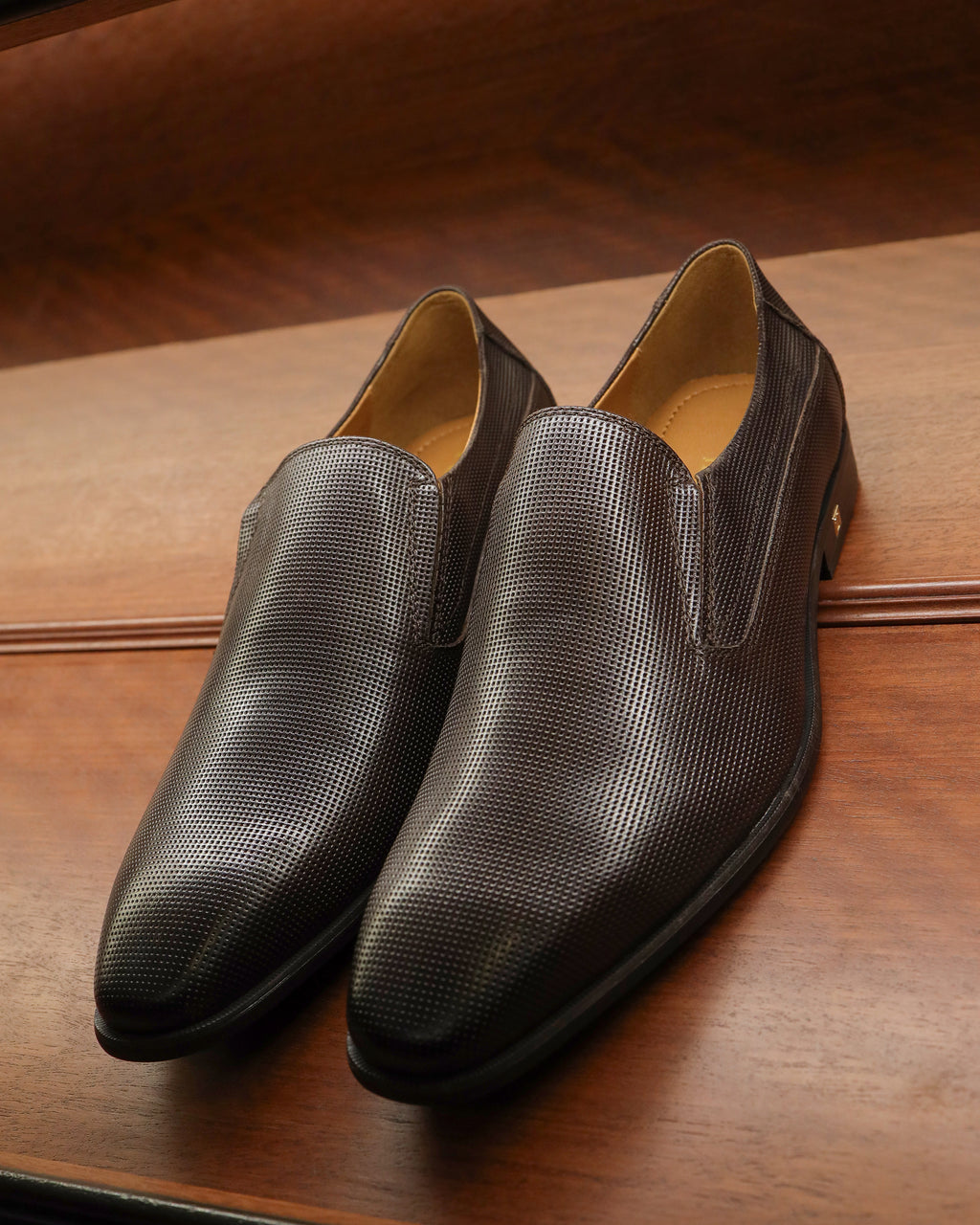 Tomaz F275 Formal Slip Ons (Coffee)