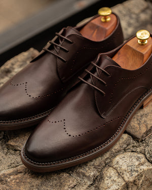 Load image into Gallery viewer, Tomaz F280 Brogue Derbies (Wine) (4513966719072)Tomaz F280 Brogue Derbies (Wine) men shoe, men's shoe, men's italian dress shoes, men's dress shoes, men's dress shoes near me, shoe shop near me, tomaz shoe locations, shoe store near me, formal shoes