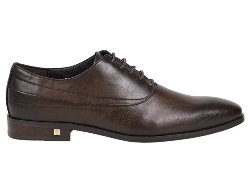 Tomaz F999C Lace Up Formal (Coffee) - Tomaz Shoes (413290299421)