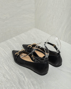 Load image into Gallery viewer, Tomaz FB3 Ladies Buckle Flats (Black)