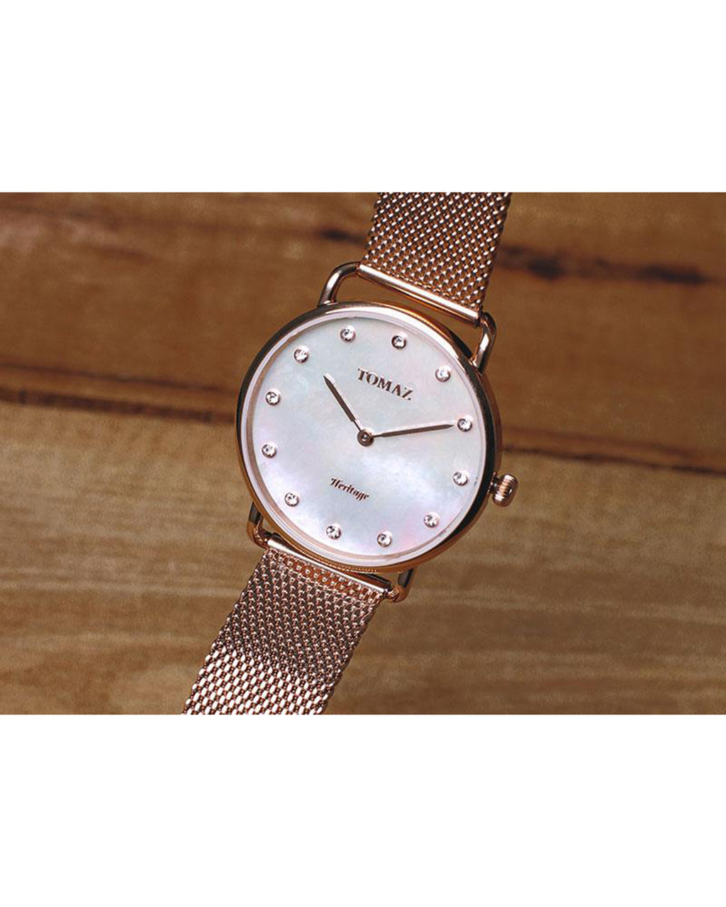 Tomaz Ladies Watch G1L-D4 (Rose Gold/White Marble)