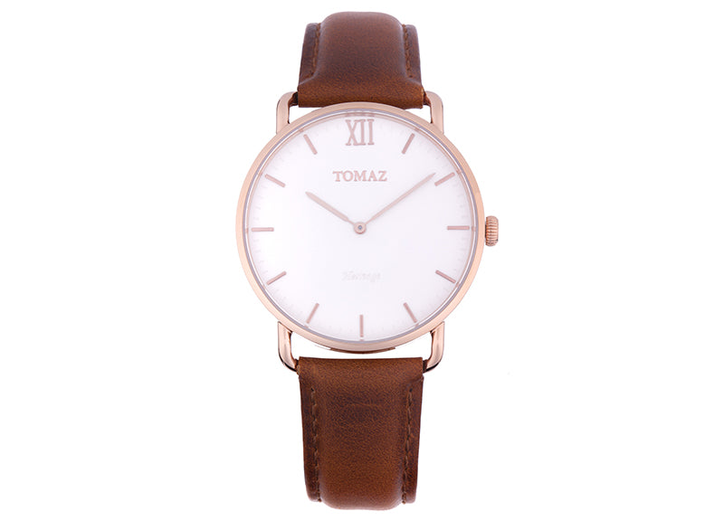 Tomaz Men's Watch G1M-D1 (Rose Gold/White)