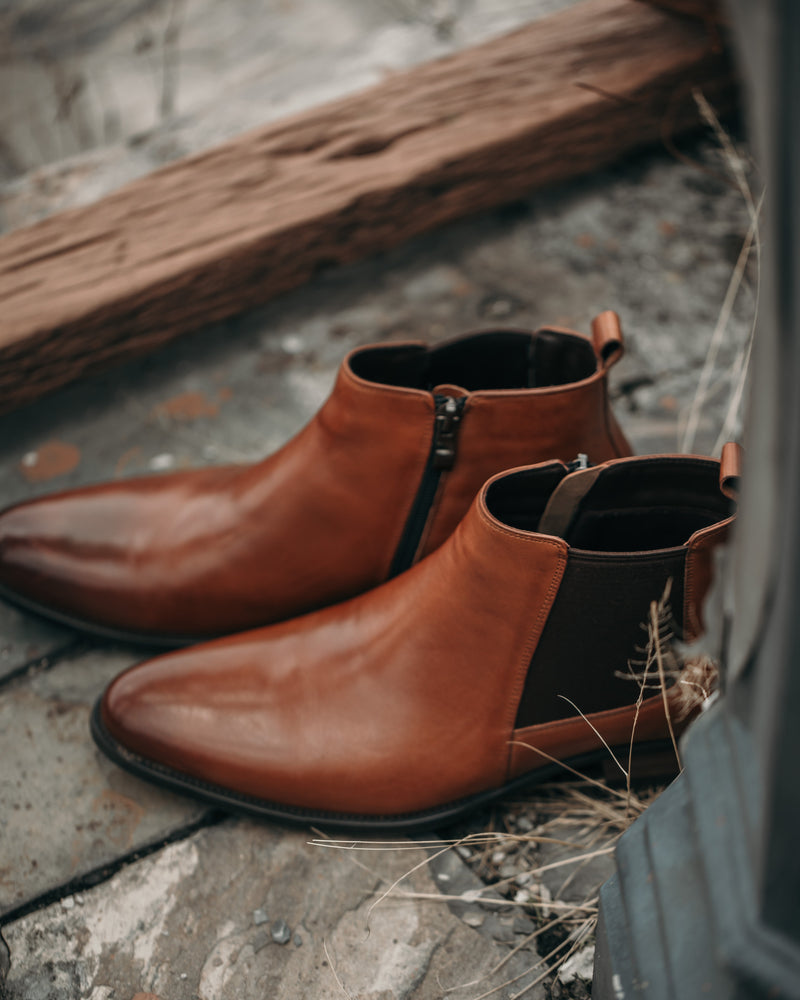 Tomaz HC001 Chelsea Boots (Brown) men shoe, men's shoe, men's italian dress shoes, men's dress shoes, men's dress shoes near me, shoe shop near me, tomaz shoe locations, shoe store near me, formal shoes
