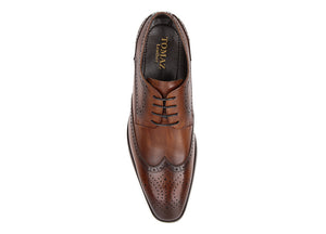 Load image into Gallery viewer, Tomaz HF009 Wingtips Derbies (Coffee) (2310284640352)