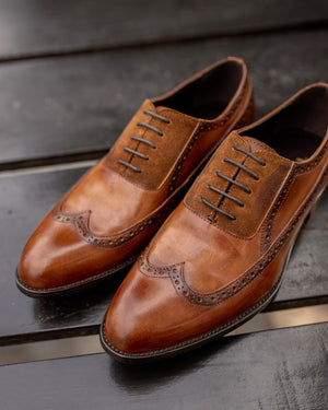 Load image into Gallery viewer, Tomaz HF010 Brogue Oxfords (Brown) (2228095320160)