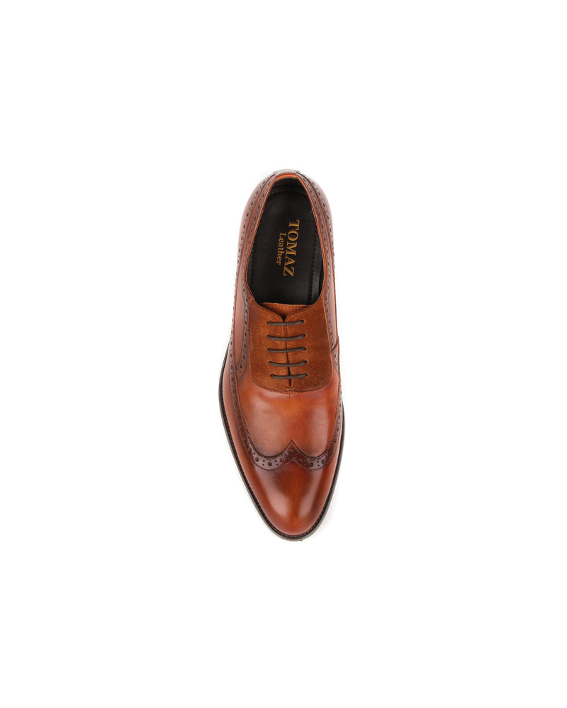Load image into Gallery viewer, Tomaz HF010 Wholecut Brogue Formals (Brown)