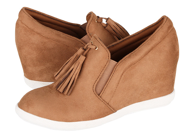 Tomaz JSW25 Ladies Wedge Bootie (Camel)