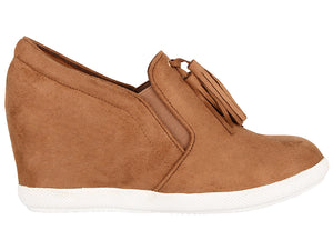 Load image into Gallery viewer, Tomaz JSW25 Ladies Wedge Bootie (Camel) (2226156306528)