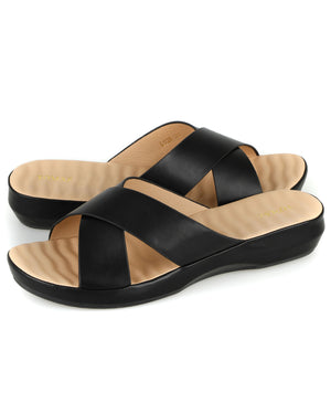 Load image into Gallery viewer, Tomaz L028 Ladies Wedge Sandal (Black)