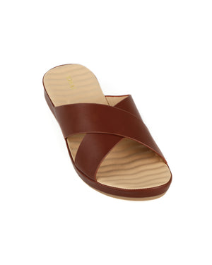 Load image into Gallery viewer, Tomaz L028 Ladies Wedge Sandal (Brown)