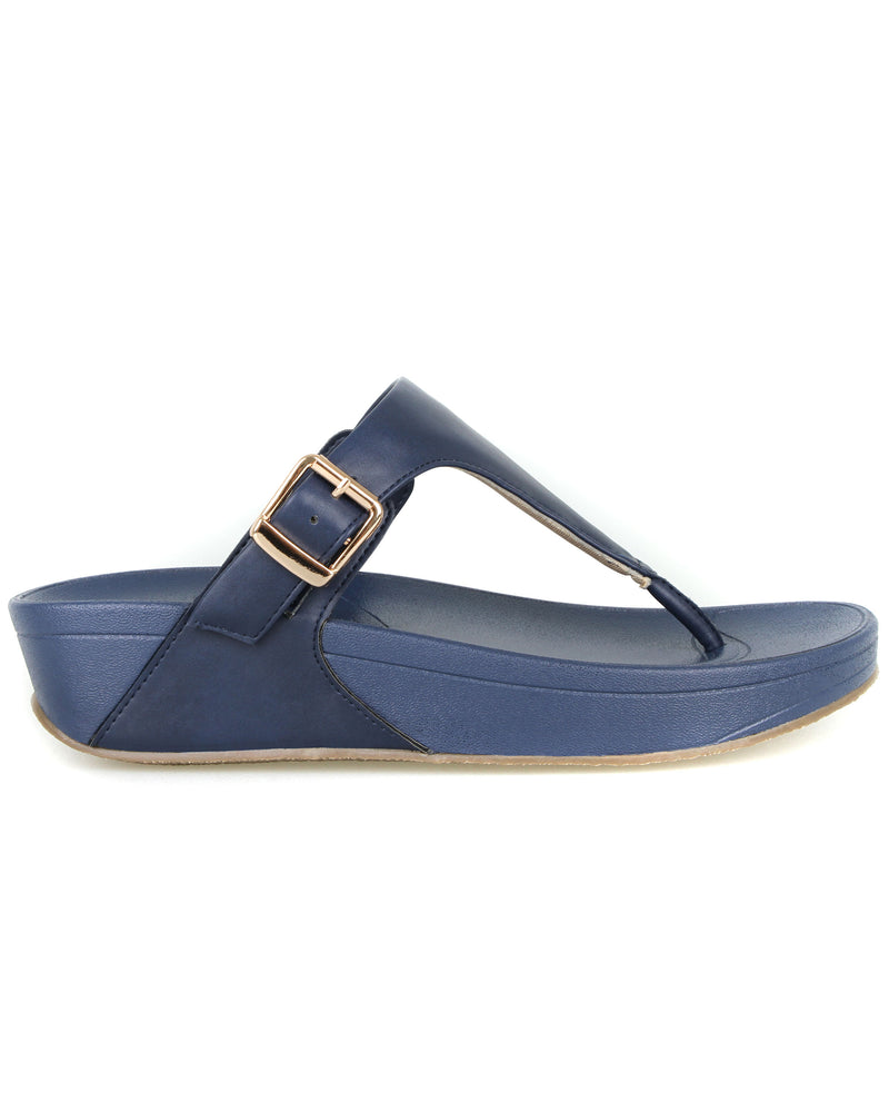 Load image into Gallery viewer, Tomaz L060 Ladies Platform Sandals (Navy)