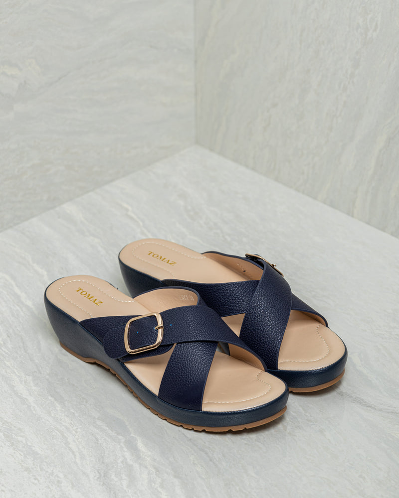 Load image into Gallery viewer, Tomaz L061 Ladies Platform Sandals (Navy)
