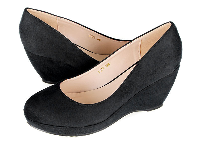 Tomaz L072 Ladies Pump Wedges (Black)